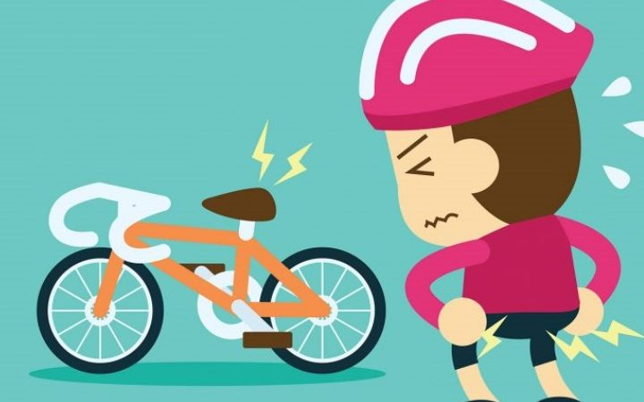 Why does your butt hurt when riding a bike?