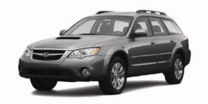 2008 Subaru outback cargo area dimension