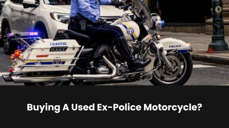 buying ex police motorcycle